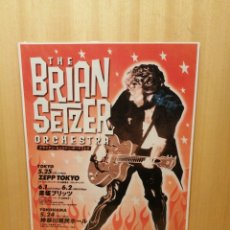 Collectionnisme d'affiches: THE BRIAN SETZER ORCHESTRA. CARTEL REPRODUCCIÓN. 44,5 X 31,5 CM. ROCK AND ROLL.. Lote 215058422