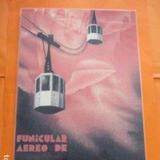 Colecionismo de cartazes: CARTEL - REPRODUCCION ANTIGUA PUBLICIDAD AEREO DE MONTSERRAT FUNICULAR. Lote 215241207