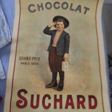 Coleccionismo de carteles: CARTEL PUBLICITARIO CHOCOLATES SUCHARD. Lote 215387895