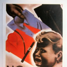 Colecionismo de cartazes: NO ENVENENÉIS A LA INFANCIA (F.I.J.L. JUVENTUDES LIBERTARIAS F.A.I.). CARTEL GUERRA CIVIL. REPRODUCC. Lote 216630920