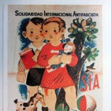 Collectionnisme d'affiches: SEMANA DEL NIÑO (SOLIDARIDAD INTERNACIONAL ANTIGASCISTA). CARTEL PROPAGANDA GUERRA CIVIL. REPRO. Lote 216632853