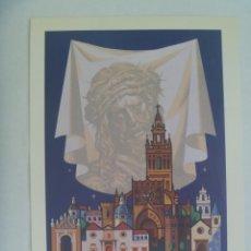 Coleccionismo de carteles: SEMANA SANTA DE SEVILLA : PEQUEÑO CARTEL ( REPRODUCCION DE COLECCION ) DE 1977, DE ALVAREZ GAMEZ. Lote 219570856