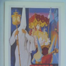 Coleccionismo de carteles: SEMANA SANTA DE SEVILLA : PEQUEÑO CARTEL ( REPRODUCCION DE COLECCION ) DE 1952. DE TOMAS RUIZ VELA. Lote 219711105