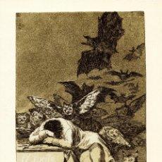 Coleccionismo de carteles: EL SUEÑO DE LA RAZÓN PRODUCE MONSTRUOS (LOS CAPRICHOS). GOYA. CALCOGRAFÍA NACIONAL. Lote 219711618