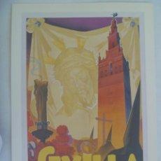 Coleccionismo de carteles: SEMANA SANTA DE SEVILLA : PEQUEÑO CARTEL ( REPRODUCCION DE COLECCION ) DE 1953. DE TOMAS RUIZ VELA. Lote 219727211
