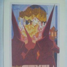 Coleccionismo de carteles: SEMANA SANTA DE SEVILLA : PEQUEÑO CARTEL ( REPRODUCCION DE COLECCION ) DE 1949, DE VICENTE FLORES. Lote 220105350