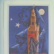 Coleccionismo de carteles: SEMANA SANTA DE SEVILLA: PEQUEÑO CARTEL ( REPRODUCCION DE COLECCION ) DE 1955, DE FRANCISCO MARISCAL. Lote 220509237