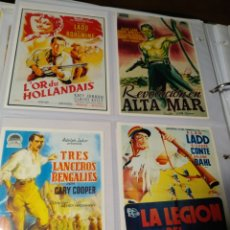 Coleccionismo de carteles: 8 PROGRAMAS DE PELÍCULAS. Lote 220606646
