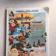 Coleccionismo de carteles: FERROCARRILES, CHEMIN DU FER DU NORD. Lote 220964856