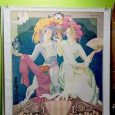 Coleccionismo de carteles: REPRODUCCION CARTEL DE 1933 GRAN FERIA DE VALENCIA 100 X 70 CM (1984). Lote 222225715