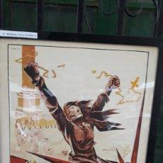 Coleccionismo de carteles: CARTEL ENMARCADO DE LA REVOLUCIÓN DE RUSIA. Lote 222360253
