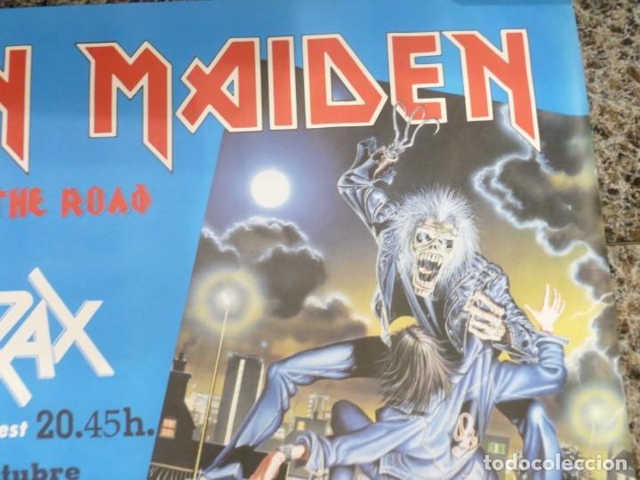 Coleccionismo de carteles: Cartel de Iron Maiden concierto No prayer on the Road Madrid 1990 Anthrax - Foto 4 - 222716172