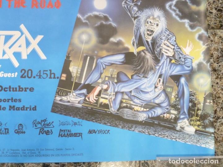Coleccionismo de carteles: Cartel de Iron Maiden concierto No prayer on the Road Madrid 1990 Anthrax - Foto 5 - 222716172