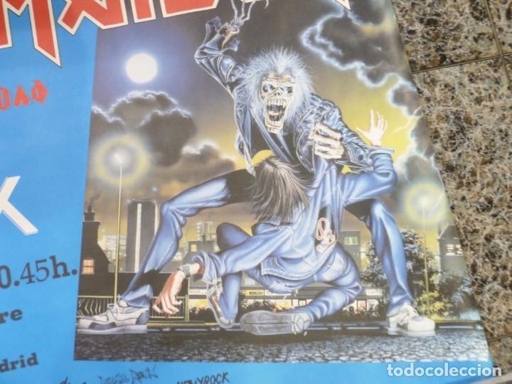 Coleccionismo de carteles: Cartel de Iron Maiden concierto No prayer on the Road Madrid 1990 Anthrax - Foto 6 - 222716172