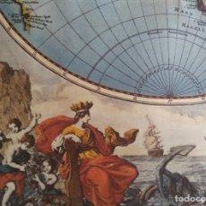 Coleccionismo de carteles: REPRODUCCION LAMINA HEMISFERIO - HEMISPHAERIORUM TABULA CARTHESIANA P.SCHENKI II. Lote 224214028