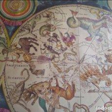 Coleccionismo de carteles: LAMINA REPRODUCCION - PLANISPHAERIUM CELESTE - SIMBOLOGIA ASTROLOGICA - T. 100X68. Lote 224215217