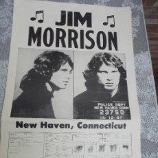 Coleccionismo de carteles: JIM MORRISON, CARTEL, 55CNT ALTO Y 35 CNT LARGO. Lote 224731073