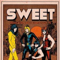Colecionismo de cartazes: THE SWEET - DESOLATION BOULEVARD TOUR 1975 !! CARTEL CONCIERTO 30X40 !!. Lote 227014580
