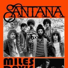 Colecionismo de cartazes: SANTANA / LENOX MASSACHUSETTS 18 AUGUST !! CARTEL CONCIERTO 30X40 !!. Lote 227751555