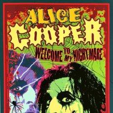 Colecionismo de cartazes: ALICE COOPER - WELCOME TO MY NIGHTMARE TOUR IN 1975 !! CARTEL CONCIERTO 30X40 !!. Lote 227840920