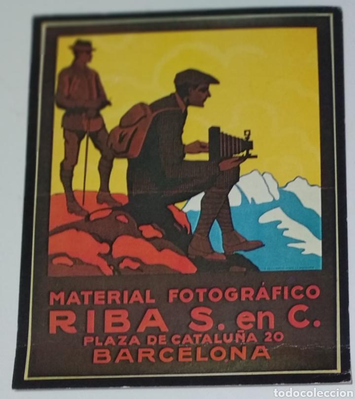CARTEL PUBLICIDAD MATERIAL FOTOGRÁFICO RIBA 16CM X 13CM (Coleccionismo - Reproducciones de carteles)
