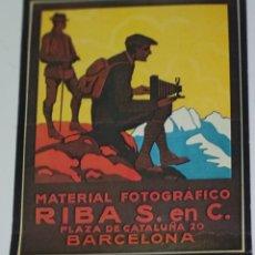 Colecionismo de cartazes: CARTEL PUBLICIDAD MATERIAL FOTOGRÁFICO RIBA 16CM X 13CM. Lote 229266740