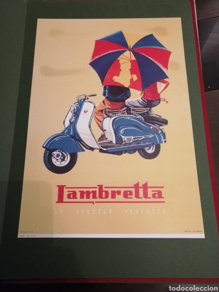 Coleccionismo de carteles: Lote de 7 Carteles Posters de Publicidad de Motocicletas, OSSA, LAMBRETTA, MONTESA, VESPA, ETC... - Foto 4 - 230266470