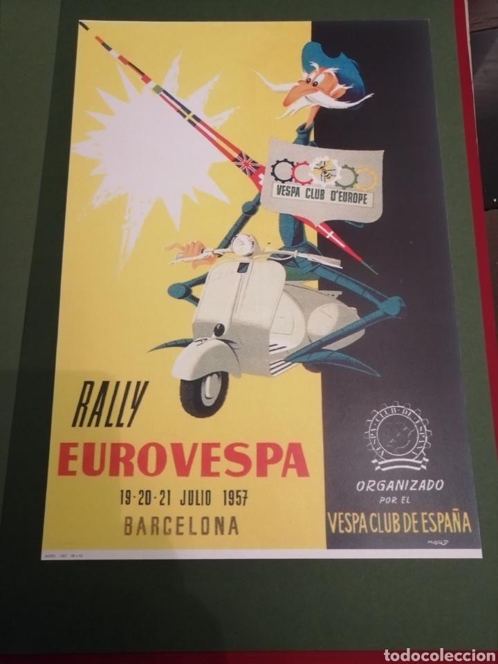 Coleccionismo de carteles: Lote de 7 Carteles Posters de Publicidad de Motocicletas, OSSA, LAMBRETTA, MONTESA, VESPA, ETC... - Foto 5 - 230266470