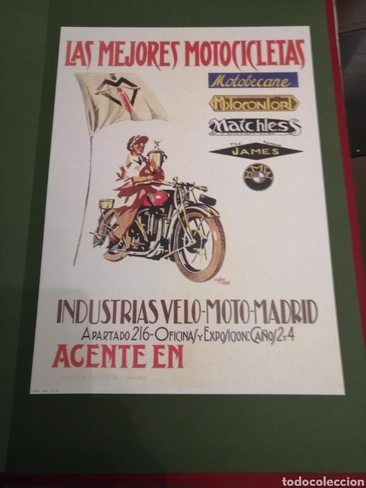 Coleccionismo de carteles: Lote de 7 Carteles Posters de Publicidad de Motocicletas, OSSA, LAMBRETTA, MONTESA, VESPA, ETC... - Foto 6 - 230266470