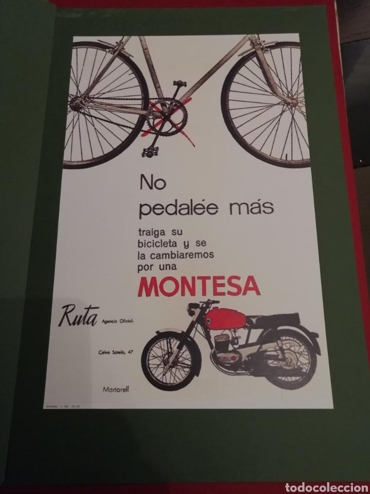Coleccionismo de carteles: Lote de 7 Carteles Posters de Publicidad de Motocicletas, OSSA, LAMBRETTA, MONTESA, VESPA, ETC... - Foto 7 - 230266470