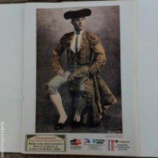 Coleccionismo de carteles: ALMERÍA LAMINA TORERO JULIO GOMEZ RELAMPAGUITO. Lote 231048740