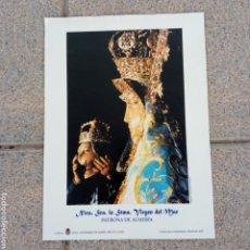 Coleccionismo de carteles: ALMERÍA LAMINA A COLOR VIRGEN DEL MAR. Lote 231049010