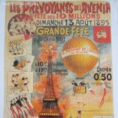 Collectionnisme d'affiches: CARTEL PUBLICITARIO FIESTA, CIRCO - LES PREVOYANTS DE L´AVENIR - GRAN DE FETE, CHAMP DE MARS 1893. Lote 237292480