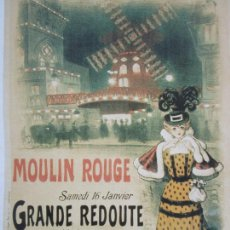 Coleccionismo de carteles: CARTEL PUBLICITARIO - MOULIN ROUGE, PARÍS - GRANDE REDOUTE, LA BOHEME ARTISTIQUE. Lote 237294920