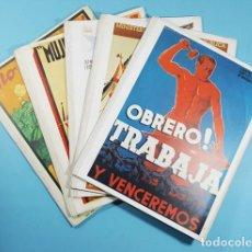 Coleccionismo de carteles: LOTE 111 REPRODUCCIONES DE CARTELES DE LA GUERRA CIVIL ESPAÑOLA, VER DESCRIPCION, POSTER, COMPLETA. Lote 239562485