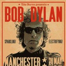 Coleccionismo de carteles: BOB DYLAN - MANCHESTER FREE TRADE HALL 1966 !! CARTEL CONCIERTO 30X40 !!. Lote 242386940