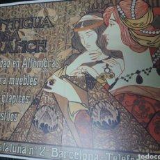 Collectionnisme d'affiches: LÁMINA CARTEL ANTIGUA CASA FRANCH, DE ALEXANDRE DE RIQUER. Lote 243482460