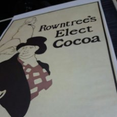 Coleccionismo de carteles: LÁMINA CARTEL ROWNTREE'S ELECT COCOA. POR THE BEGGARSTAFFS. Lote 243483470