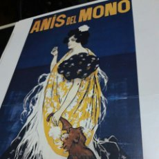 Coleccionismo de carteles: LÁMINA CARTEL ANÍS DEL MONO, VICENTE BOSCH. POR RAMÓN CASAS. Lote 243485480