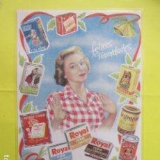 Coleccionismo de carteles: CARTEL REPRODUCCION PUBLICIDAD RIERA MARSA ROYAL NUTRICELLA GAMA PROCUTOS - TAMAÑO 29 X 42 CM. Lote 244517835