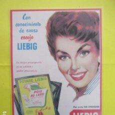 Collectionnisme d'affiches: CARTEL REPRODUCCION PUBLICIDAD RIERA MARSA LIEBIG CREMA - TAMAÑO 29 X 42 CM. Lote 244517940