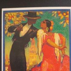 Coleccionismo de carteles: LOTE FA- POSTAL SEVILLA- FIESTAS PRIMAVERA SEMANA SANTA Y FERIAS 1928 JUAN PARRILLA( 1989). Lote 244861795