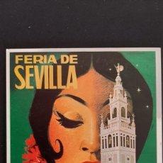 Coleccionismo de carteles: LOTE FA- POSTAL SEVILLA- CARTEL FERIA 1973-JOSE ALVAREZ-- (1989). Lote 244861975