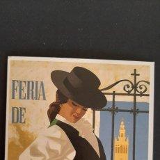 Coleccionismo de carteles: LOTE FA- POSTAL SEVILLA- CARTEL FERIA 1965-JOSE ALVAREZ-- (1989). Lote 244862055