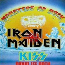 Coleccionismo de carteles: IRON MAIDEN - KISS / MONSTERS OF ROCK DONINGTON PARK UK 1988 !! CARTEL CONCIERTO 30X40 !!. Lote 245248915
