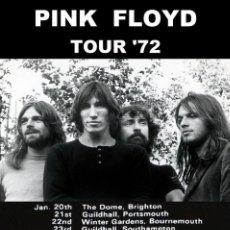 Coleccionismo de carteles: PINK FLOYD VINTAGE CARTEL UK TOUR 1972 !! CARTEL CONCIERTO 30X40 !!. Lote 245252525