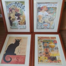 Coleccionismo de carteles: 4 MARCOS CARTELES PUBLICITARIOS ANTIGUOS. Lote 248207820