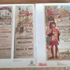 Coleccionismo de carteles: 2 LAMINAS DE LA FERIA DE ABRIL. Lote 252249000