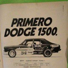 Coleccionismo de carteles: PUBLICIDAD DODGE 1500 CHRYSLER ANO 1975. Lote 255052365