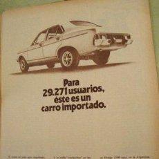 Coleccionismo de carteles: PUBLICIDAD DODGE 1500 CHRYSLER ANO 1977. Lote 255058400